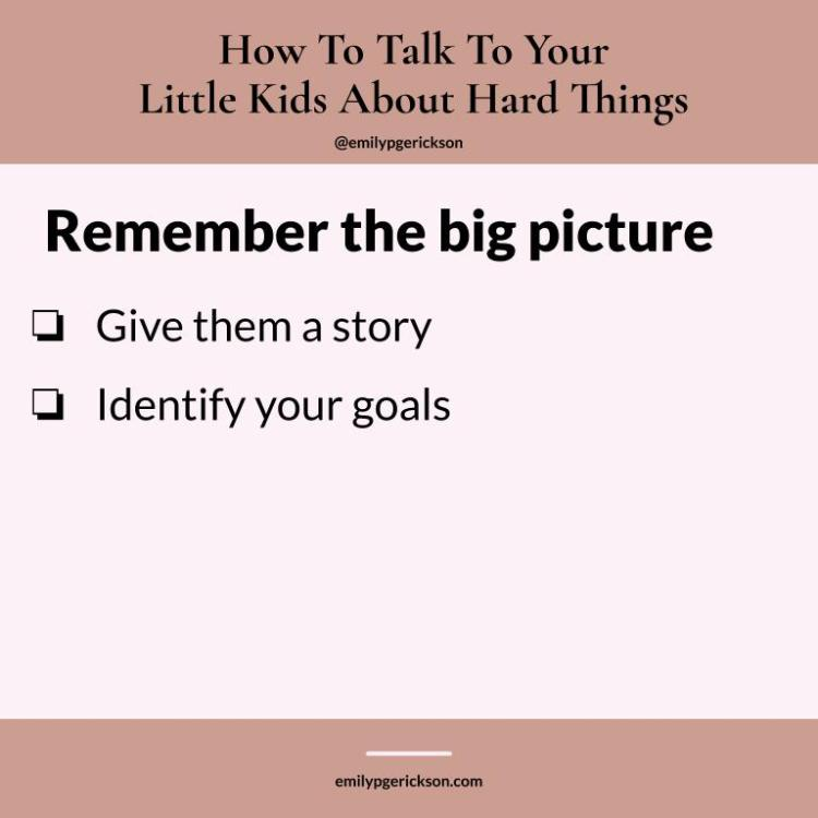 Image by Emily P.G. Erickson. Remember the big picture: give them a story, identify your goals