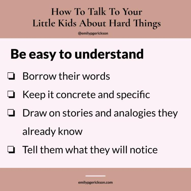 Image by Emily P.G. Erickson. Be easy to understand: Borrow their words Keep it concrete and specific Draw on stories and analogies they already know Tell them what they will notice