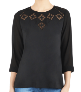 graphic embellished top