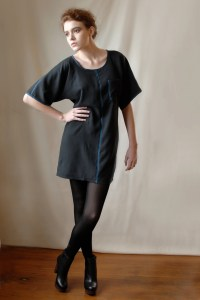 Bound Silk T Dress