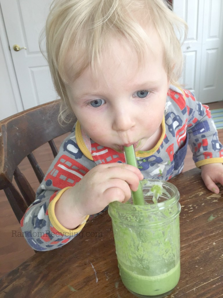 Green smoothie baby fan!