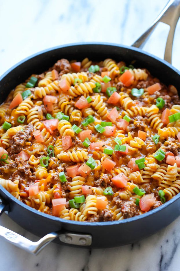 We are already excited to make this One Pot Cheeseburger Casserole on Saturday. {source}