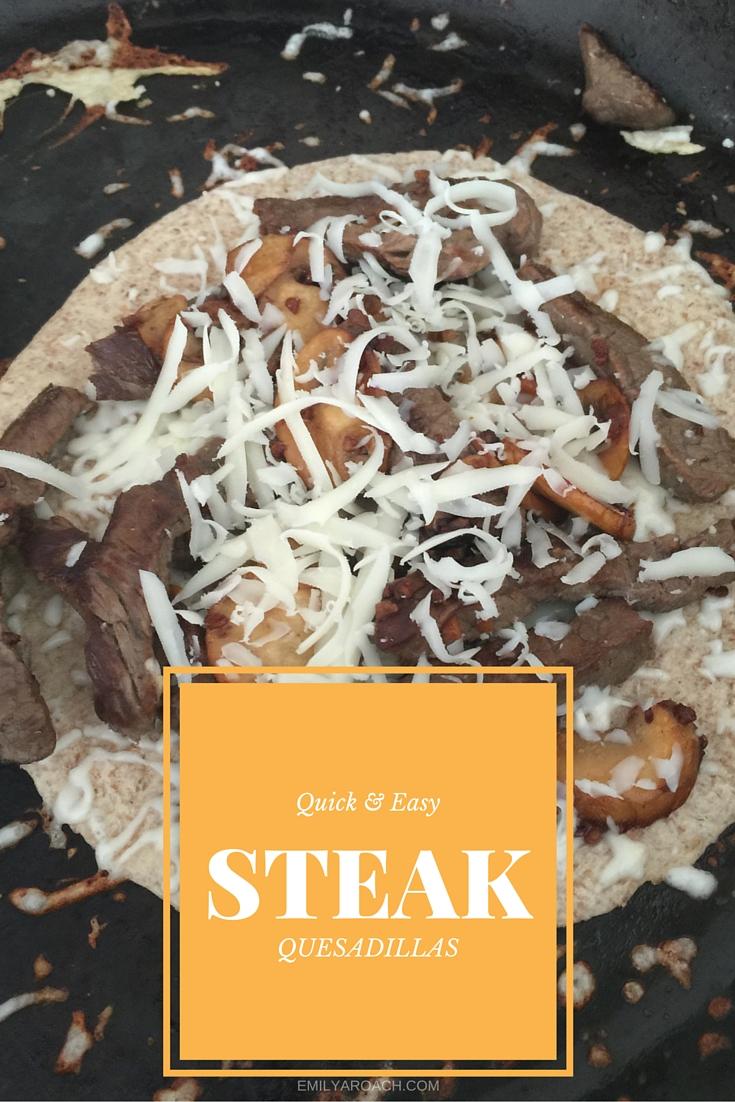 Easy steak quesadilla recipe