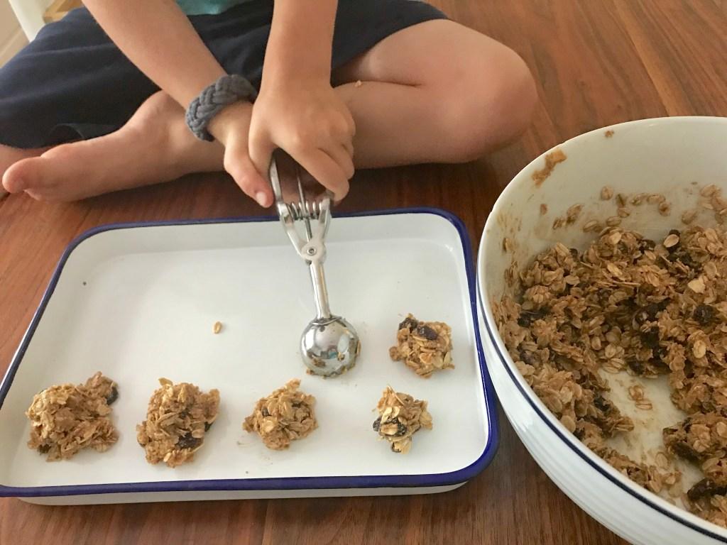 oatmeal cookie energy bites kids peanut butter