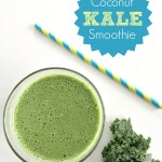 Start your day with a Coconut and Kale Smoothie. Healthy and delicious!