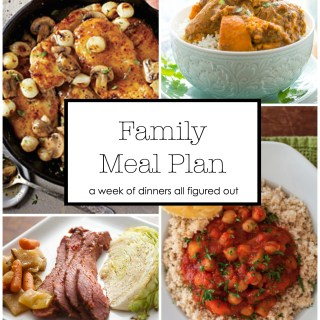 Family Meal Plan March 16