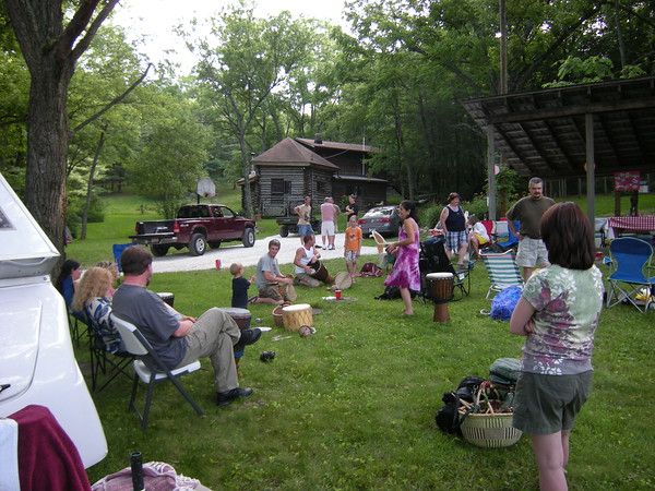 Drum circle, courtesy of my mom who brought all her drums & toys!!