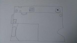 Fineliner plan drawing