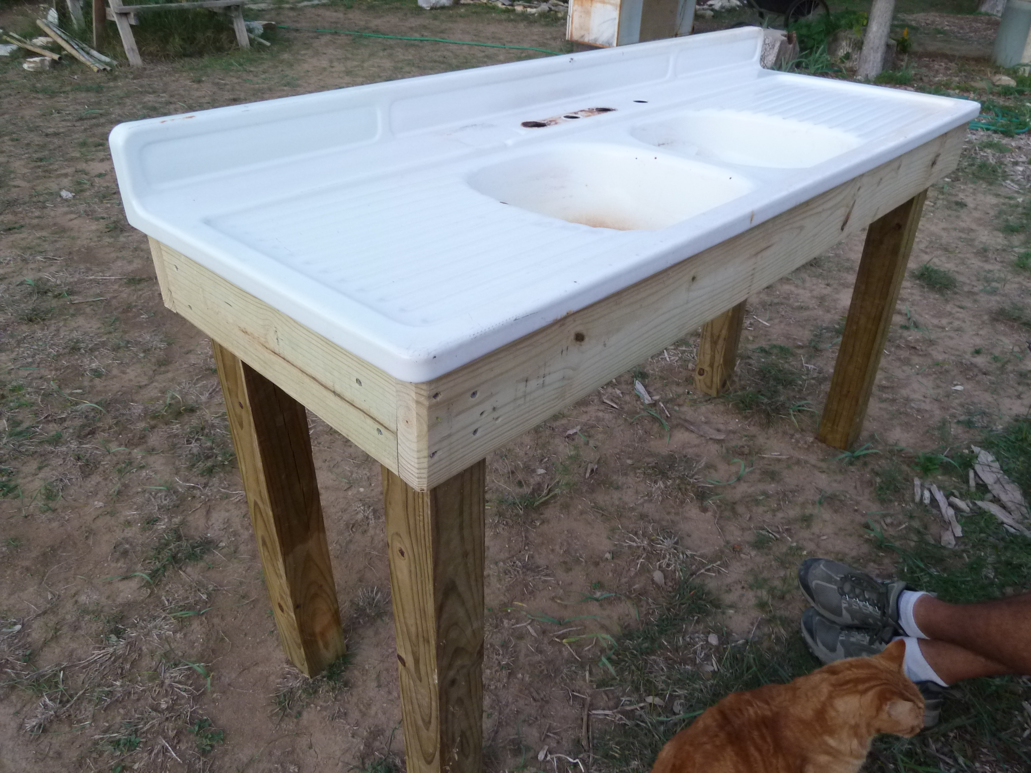 Old garden sink gets some attention | Sincerely, Emily on Outdoor Patio Sink id=53469