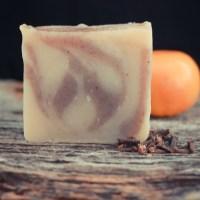 Orange Clove Swirl Soap - Cold Process Recipe