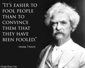 Faux Mark Twain quote, but not by him at all