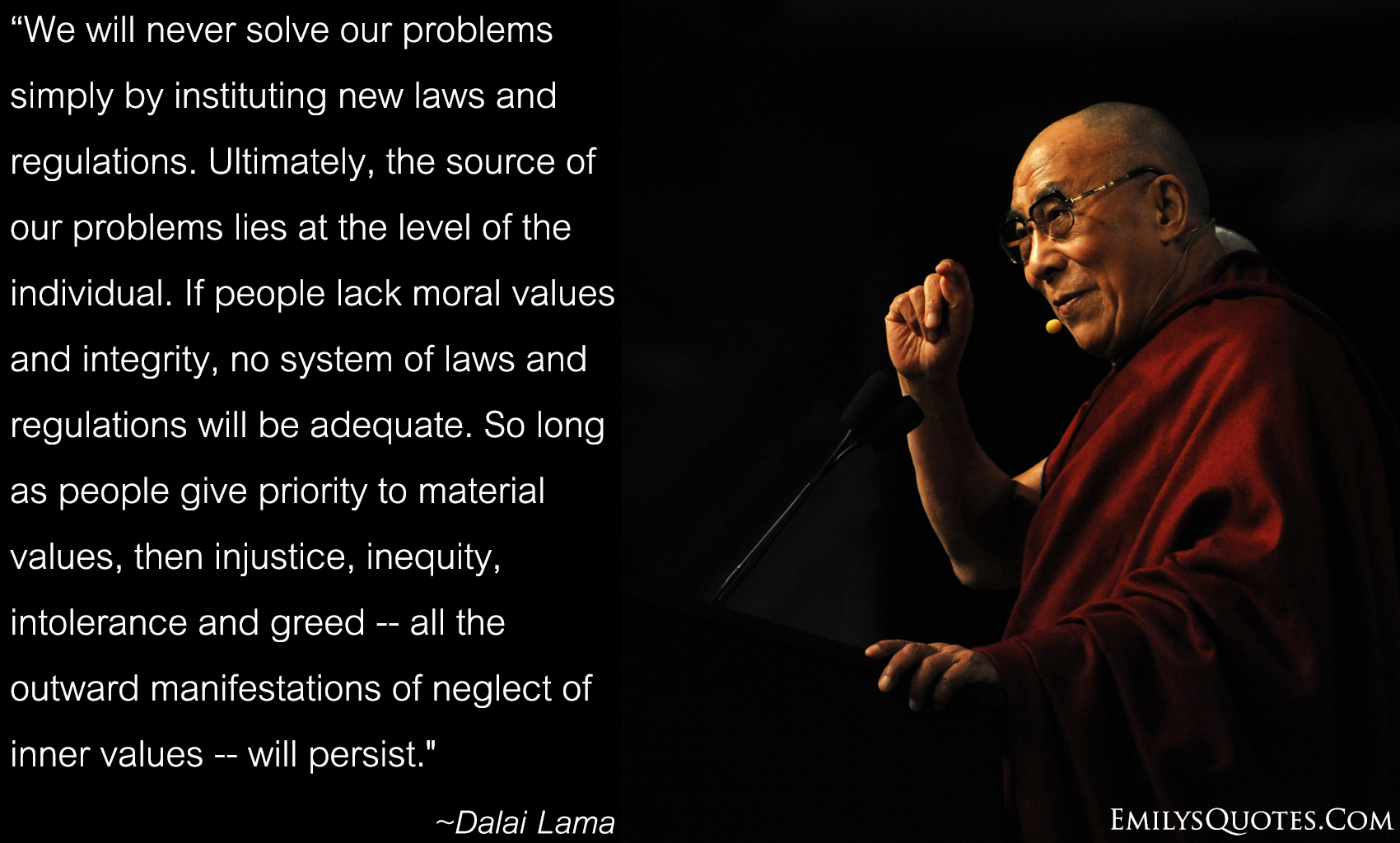 give some moral values