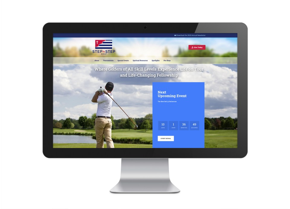Step By Step Golf Website