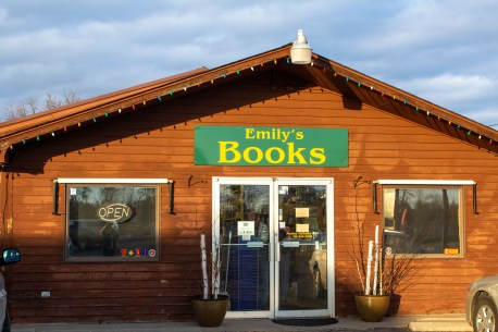 Emily's Used Books store front