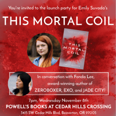 Book Launch Invitation for This Mortal Coil