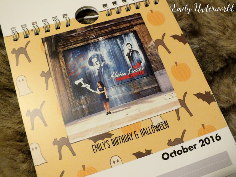 october-personalised-calendar