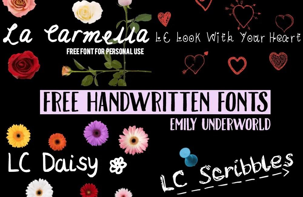Free Handwritten Fonts by Emily Underworld