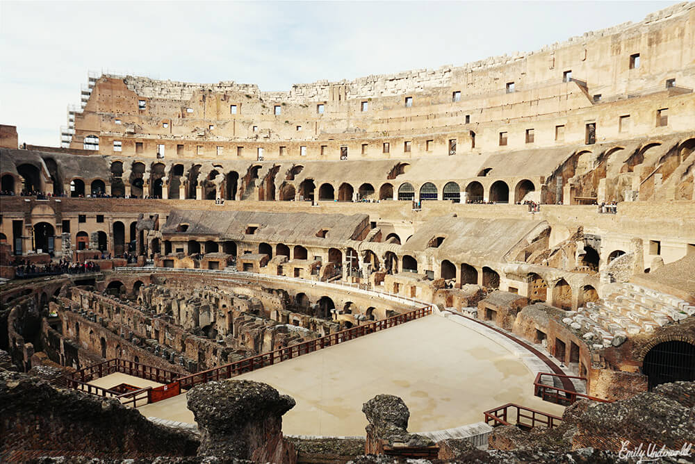 Inside the Colosseum