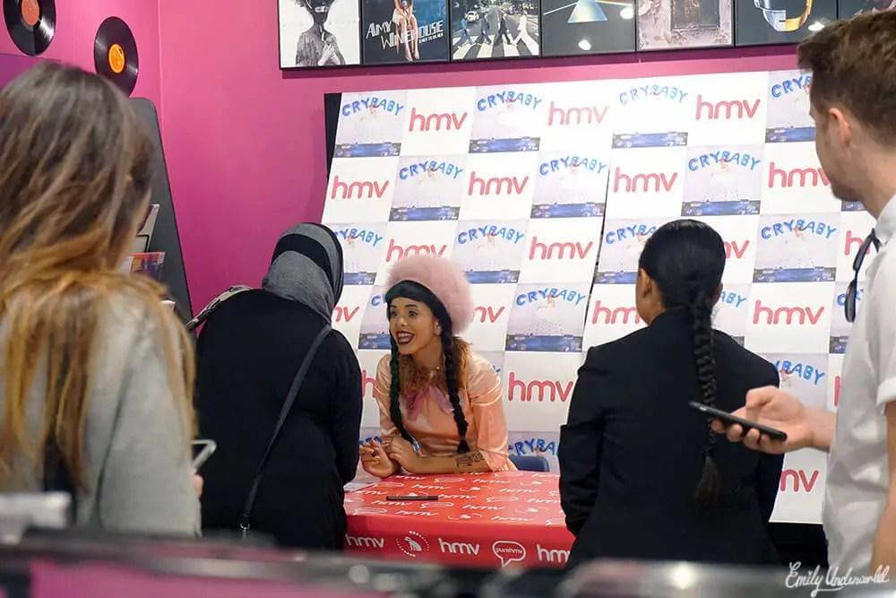 Melanie Martinez album signing at HMV Westfield