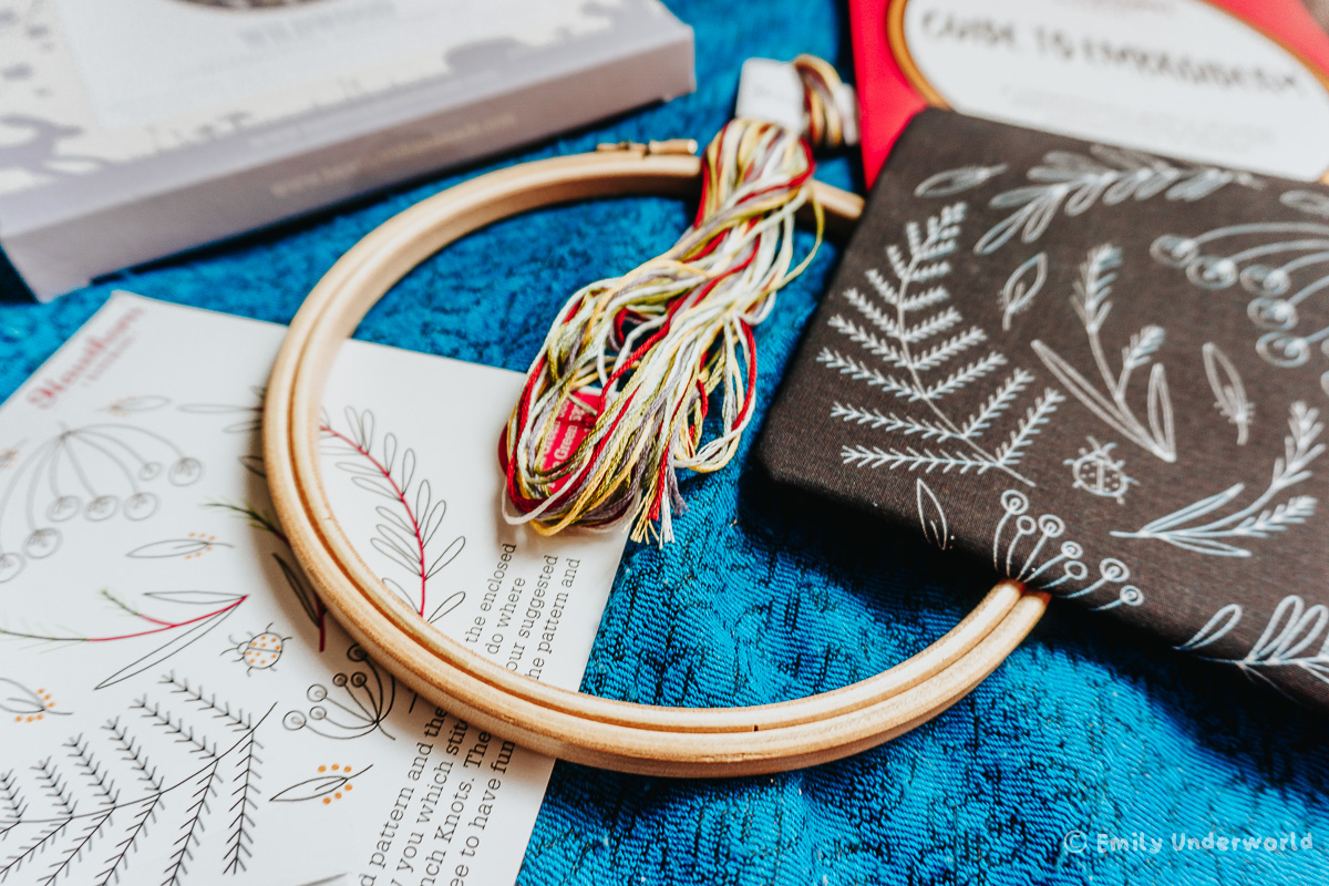 5 Creative DIYs & Crafts To Do At Home. Embroidery Kits from LoveCrafts.