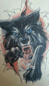 Wolf Inspired Client Drawing