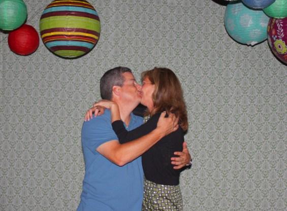 John & Mariann enjoying the photo booth