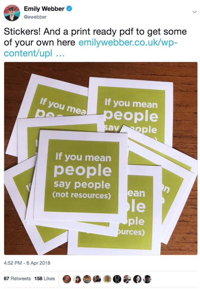 if you mean people say people stickers