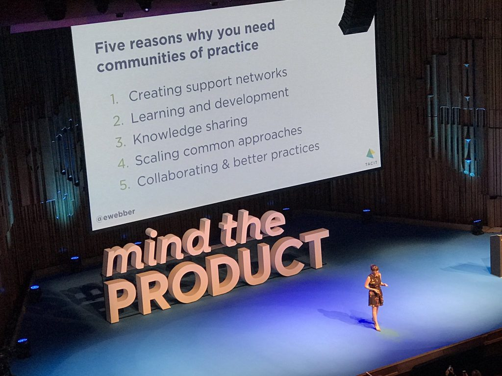 Emily at Mind the Product London 2018