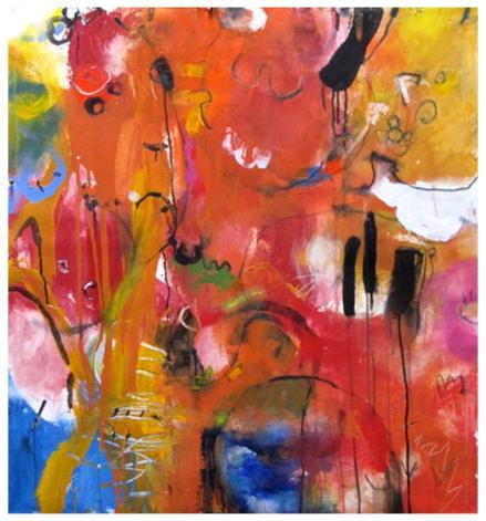 """acrylic on canvas   37"""" x35.5""""   $1700"""