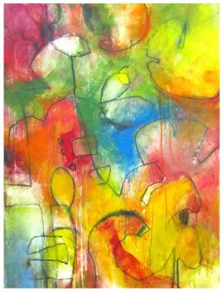 "acrylic, pencil on canvas   46""h x 35""w   $2100"