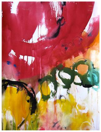 """watercolor, pastel on paper   30"""" x 22""""   $1025 (framed)"""
