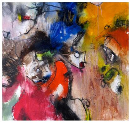 acrylic/mixed media on canvas   SOLD