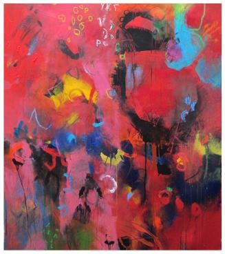 """acrylic on canvas   53.5"""" x 46.5""""   $3235"""