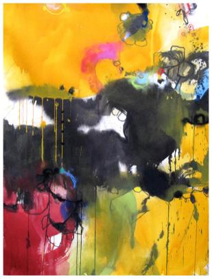 "watercolor, ink, pastel on paper | 30"" x 22"" 