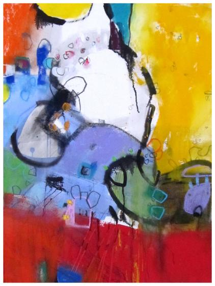 Abstract, watercolor, emily weil, pastel