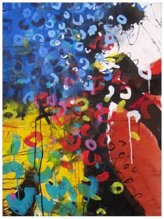 """watercolor, acrylic, India ink on paper 