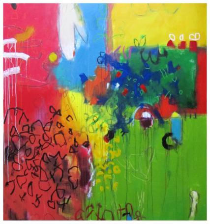 "acrylic on canvas   69""h x 64""w   $5740"