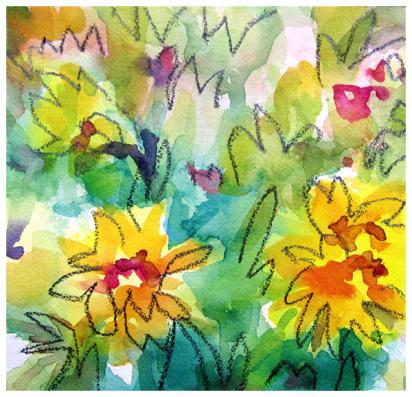 """watercolor, pencil on paper 