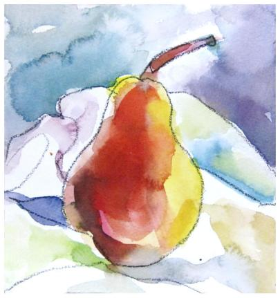 """watercolor, ink on paper   7.25"""" x 7""""   $60   SOLD   giclee available $35"""