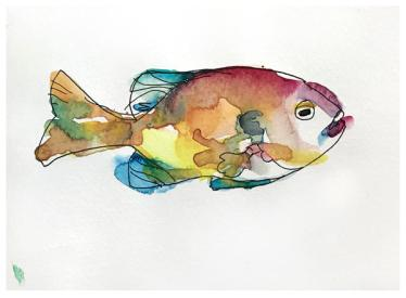 "Watercolor & ink sketch | 5.5"" x 8.5"