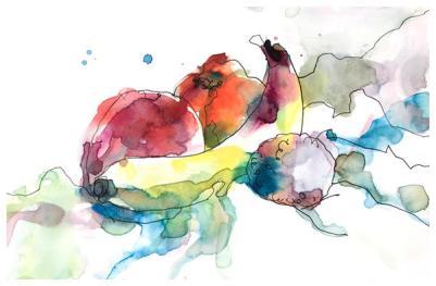 "watercolor, pen on paper | 7"" x 10"""
