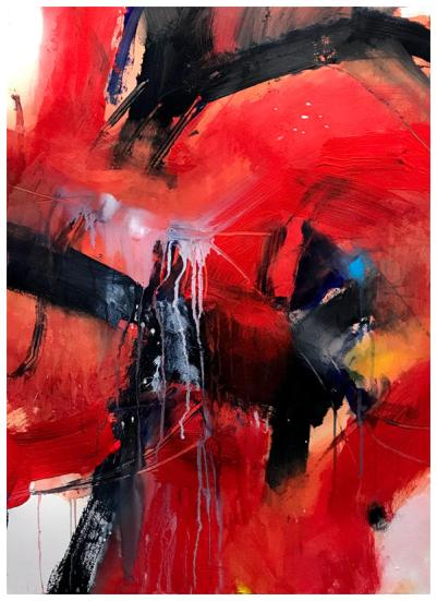 """acrylic, ink, oil pastel, pencil on paper 