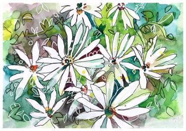 "watercolor, pen on paper | 6"" x 8"" | $60"