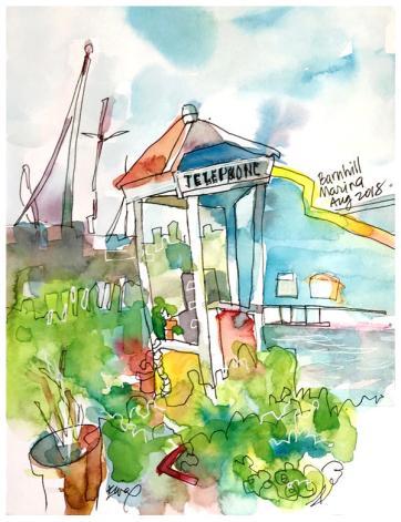 "watercolor, pen on paper | 7"" x 9"" | $80"