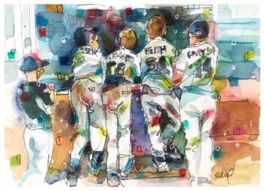 """watercolor, pen, pastel on paper   8"""" x 10"""""""