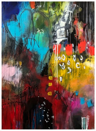 """acrylic, pencil, ink, watercolor on paper 