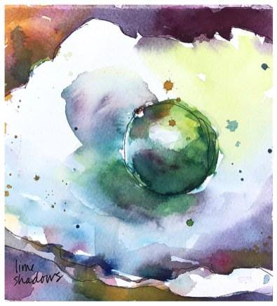 "watercolor, pen on paper | 7"" x 7.25"" | $65"