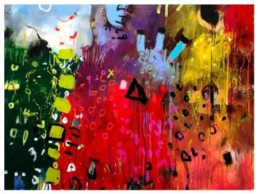 """acrylic on canvas   46"""" x 60""""   $3500"""