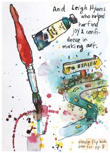 """watercolor, pen in sketchbook   8"""" x 5"""""""