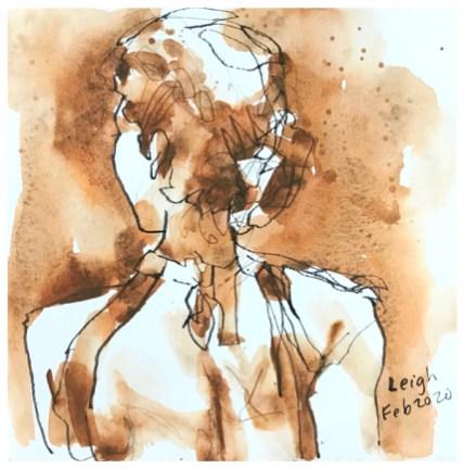 """artgraf graphite, pen, pencil on paper   7.5"""" x 7.5"""""""